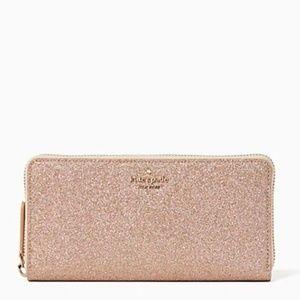 NWT Kate Spade Joeley Large Rose Gold Wallet